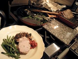 plating dinner