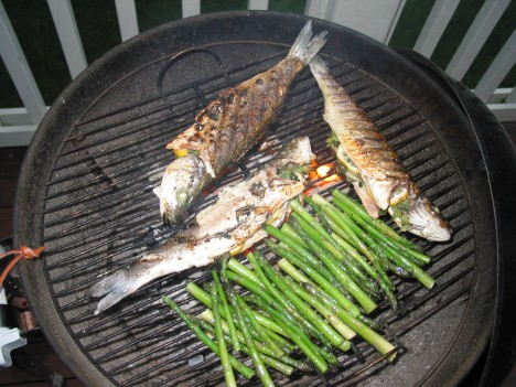 dinner grilling......