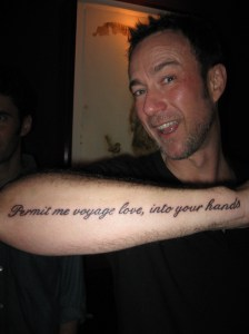 Paul's new tatoo