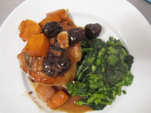 Carlita's Chicken Saute with squash and prunes